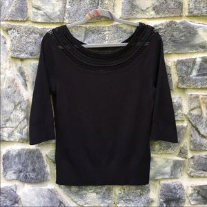 Long Sleeve Crochet Detail Blouse